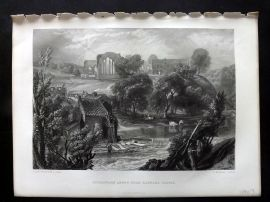 After Turner 1875 Art Journal Print. Eggleston Abbey, near Barnard Castle Durham